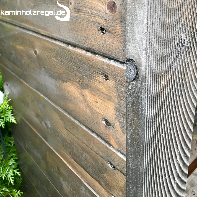 Kaminholzregal - Brennholzregal Außenbereich mit Rückwand